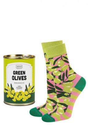 Soxo Canned Green Olives skarpety