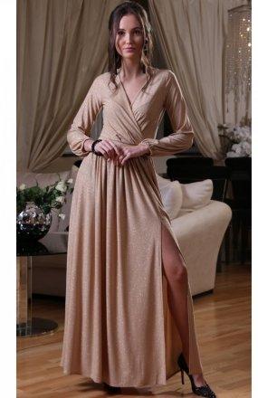 Roco 0227 sukienka beżowa