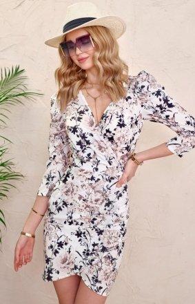 *Ołówkowa sukienka w kwiaty 0329/L02