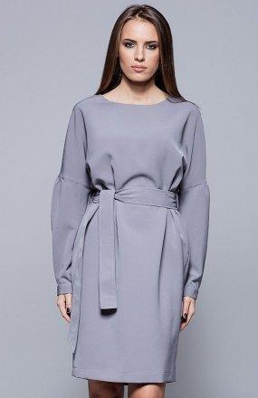 Harmony H028 sukienka szara