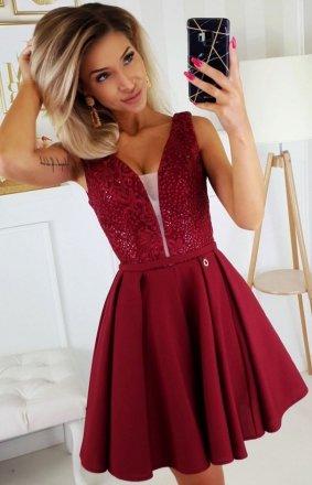Wieczorowa sukienka z wiązaniem 2196-10