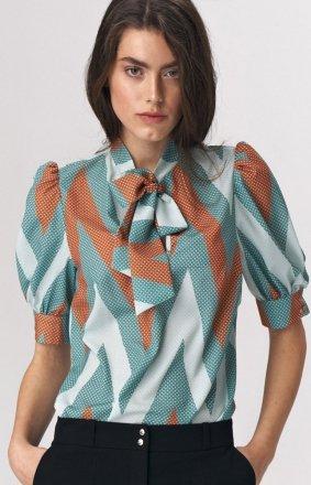 Elegancka bluzka z kokardą zygzak b111