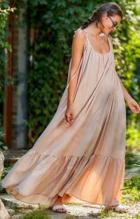 Zwiewna sukienka maxi A307