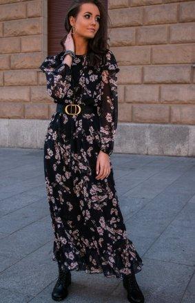 *Wzorzysta sukienka maxi 253/D83