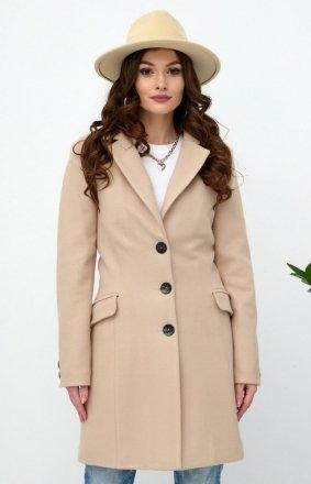 Wełniany płaszcz na guziki 0020