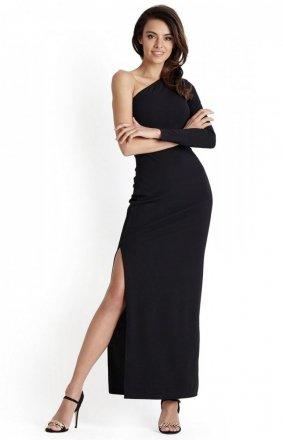 *Czarna długa sukienka wieczorowa Luisa