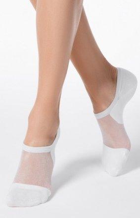 Białe skarpety stopki Conte
