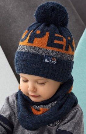AJS 42-500 czapka i komin dziecięca