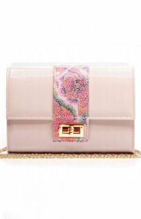 Elegancka kopertówka damska różowa M2