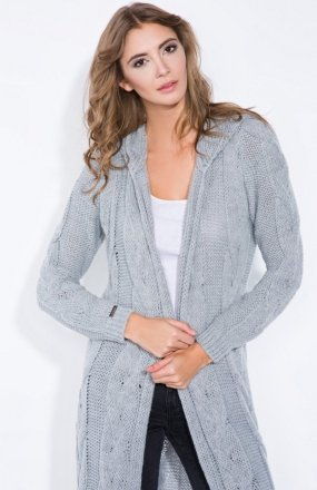 *Fobya F340 sweter szary