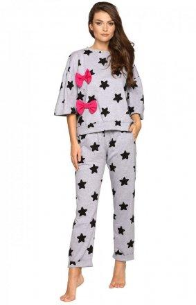 Pigeon P-693 piżama w czarne gwiazdki