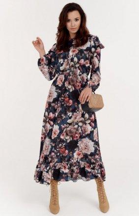 Kwiecista sukienka midi 0282/S41