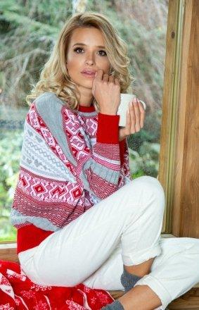 Sweter z norweskim motywem Fobya F609