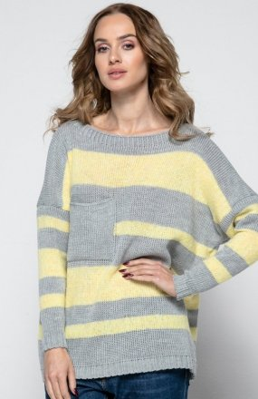 FIMFI I240 sweter szary