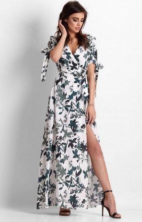 Długa sukienka w kwiaty Morella