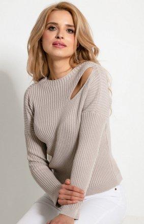 Sweterkowa bluzka z rozcięciem F920