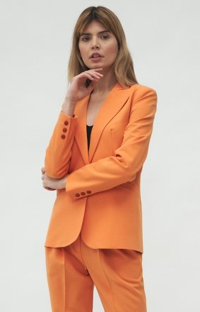 Klasyczny pomarańczowy żakiet Nife Z38