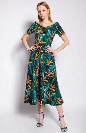 Sukienka z odkrytymi ramionami bambus SUK182