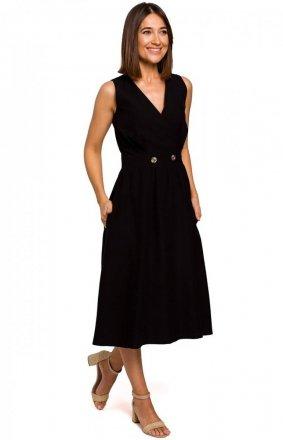 Sukienka midi czarna S224
