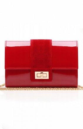 Lakierowana kopertówka czerwona M2