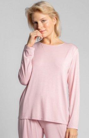 Wiskozowa różowa bluzka z rozcięciem na plecach LA027