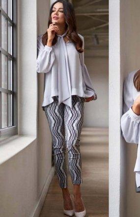 Lola Fashion spodnie cygaretki wzór 2