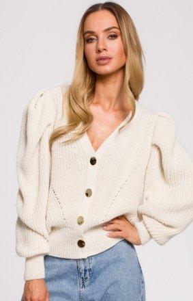 Krótki sweter z bufkami M629