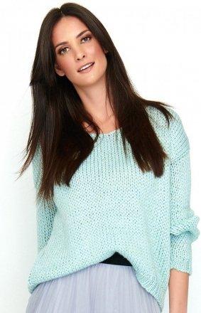 Oversizowy sweter błękitny S60