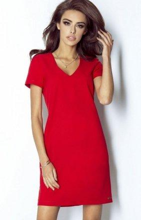 *Ivon 203 Matilda sukienka czerwona