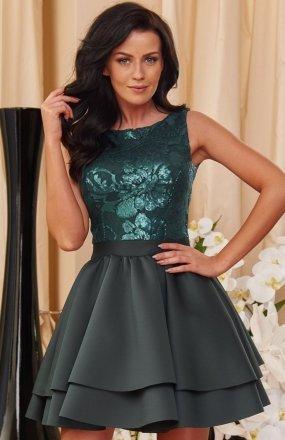 *Roco 0161 sukienka zielona
