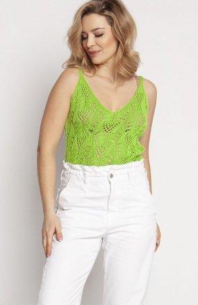 MKM SWE232 top sweterkowy jasny zielony