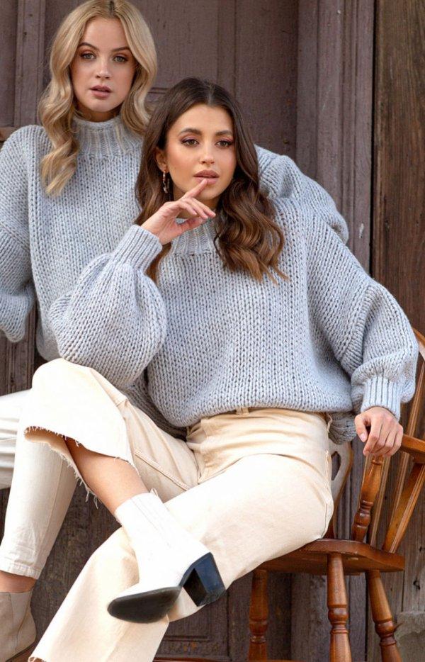 Oversizowy sweter z kaszmirem F1110