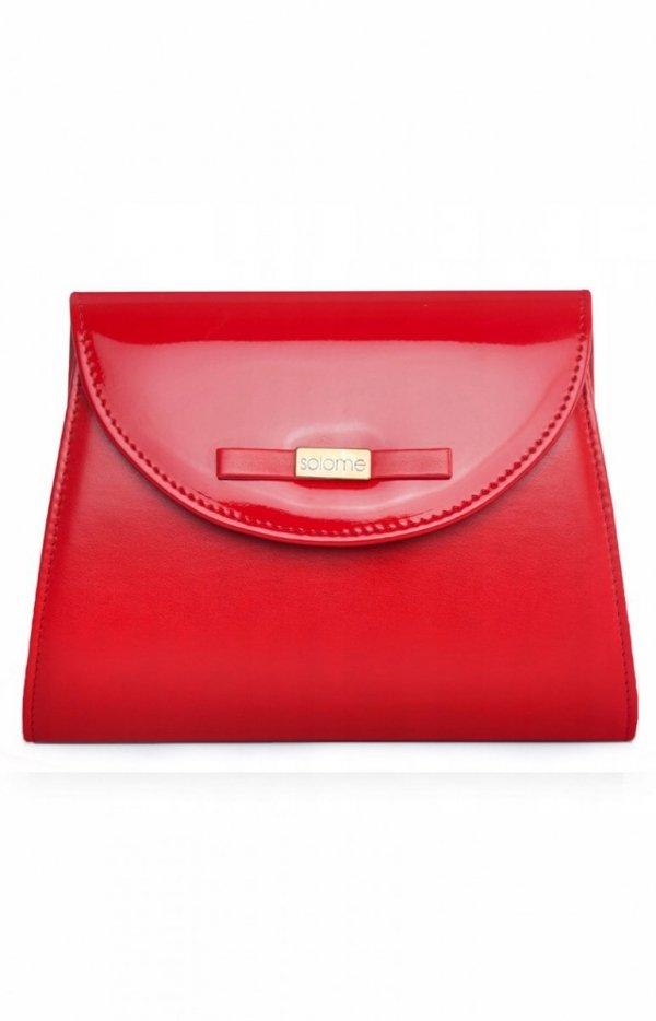 Czerwona kopertówka damska D5