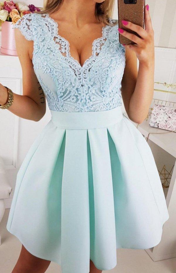 sukienka miętowa bicotone