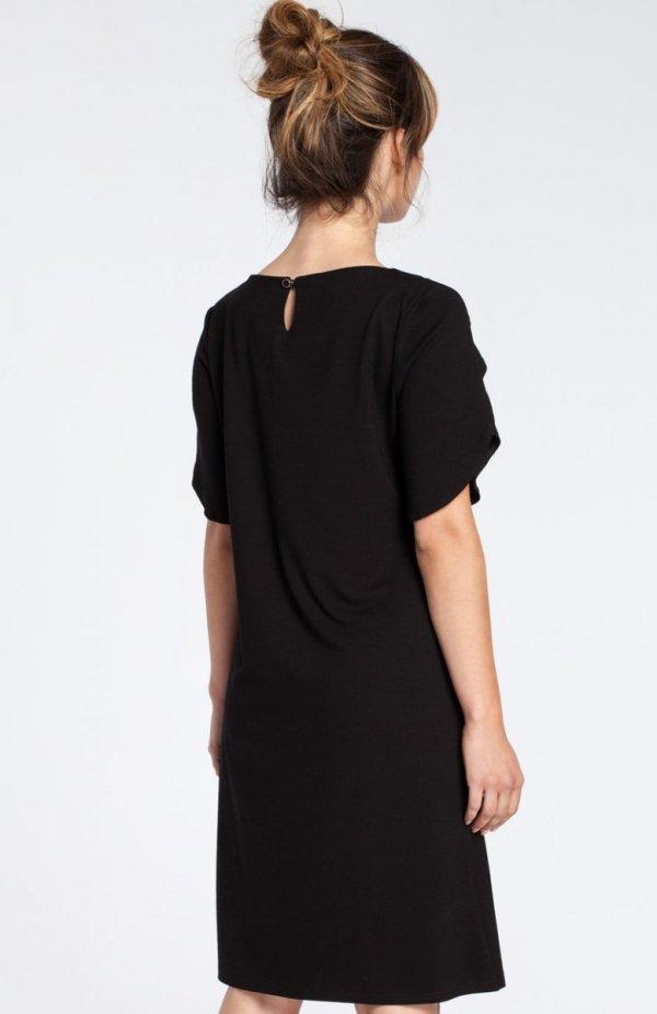 BE B035 sukienka czarna tył