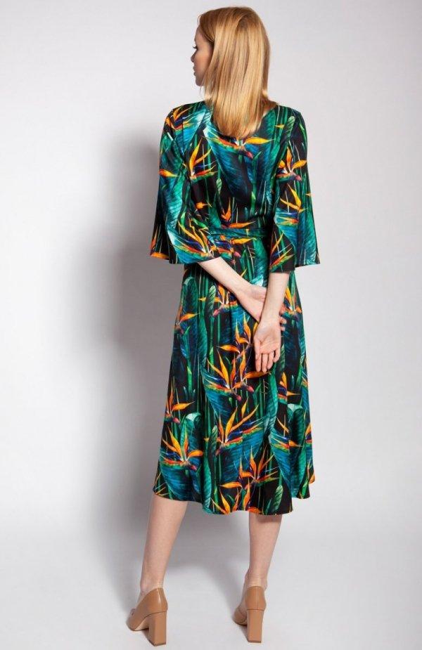 Sukienka kopertowa bambus SUK186 tył