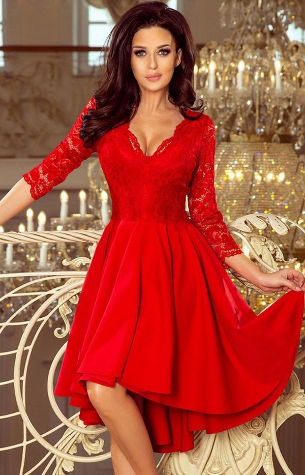 Sukienka z dłuższym tyłem Numoco 210-6