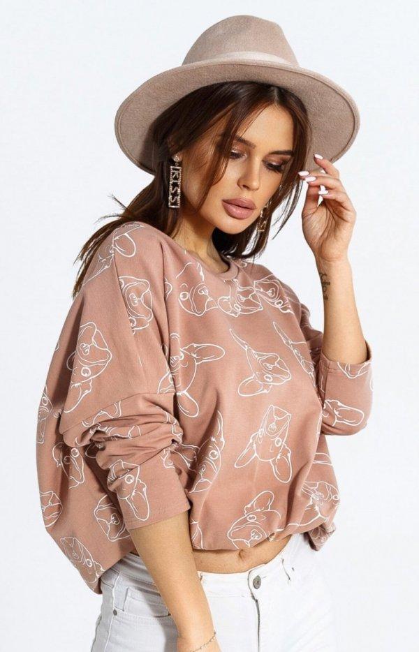 Oversizowa bluza w buldogi 103-20