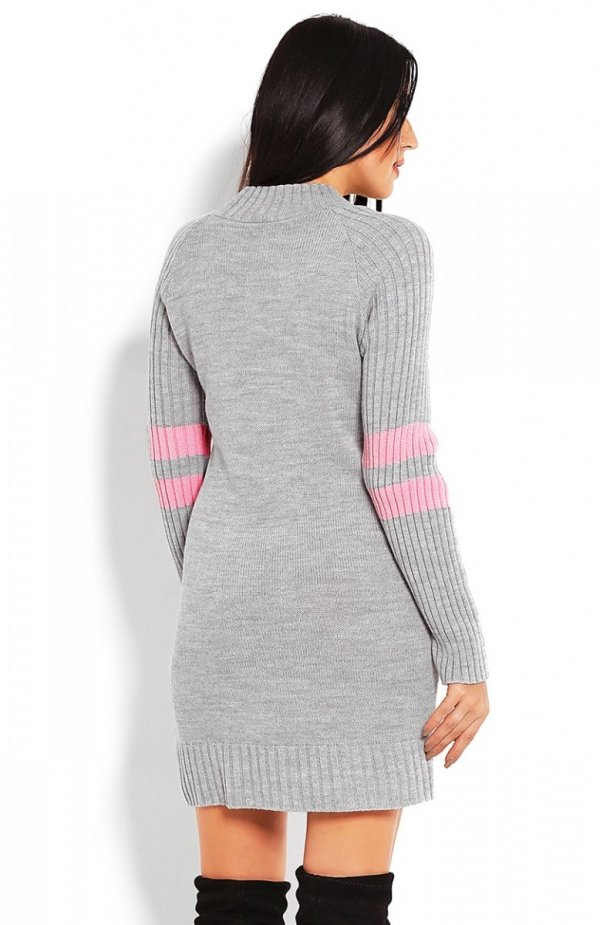 PeekaBoo 70011 tunika sweterkowa szara tył