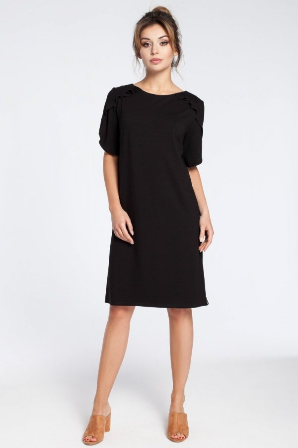 BE B035 sukienka czarna