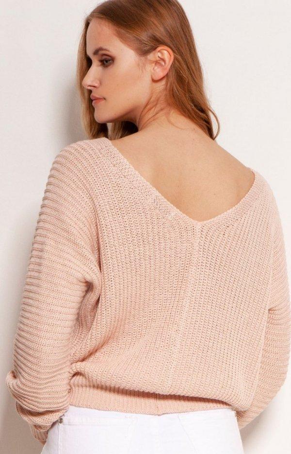 Lekki zapinany sweterek Lanti SWE142 tył