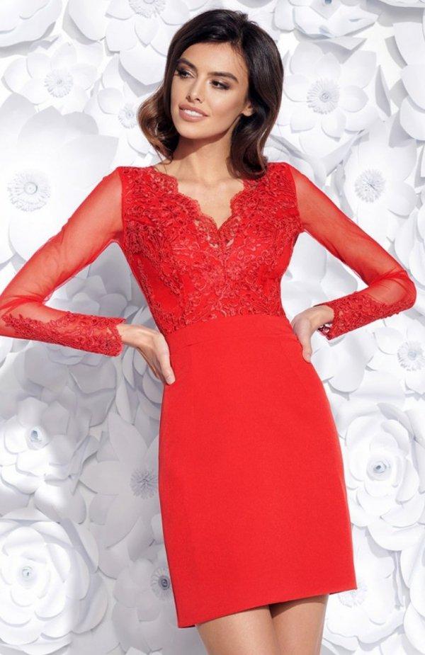 Bicotone 2159-02 sukienka czerwona