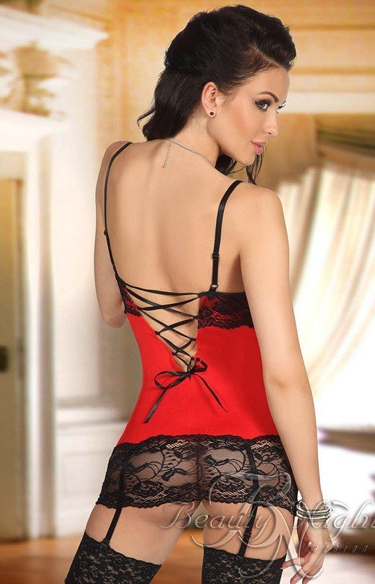 Beauty Night Shirley chemise red komplet