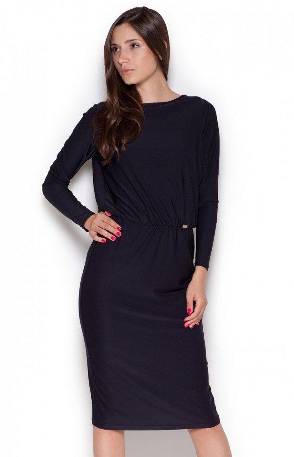 Figl M326 sukienka czarna