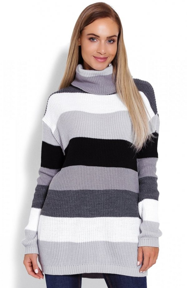 PeekaBoo 40012 sweter golf szary
