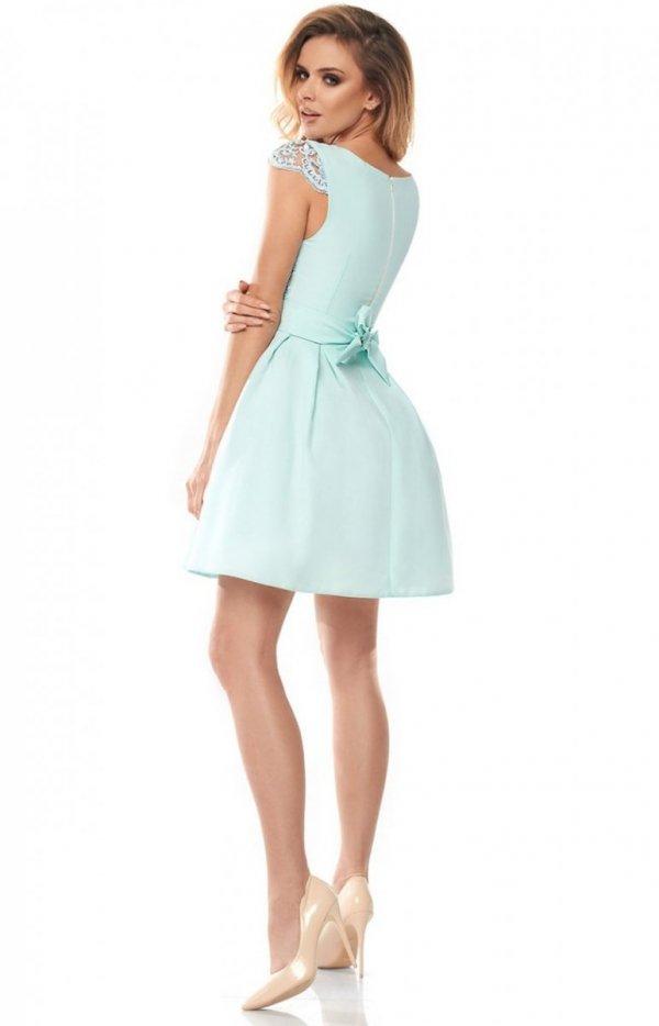 Bicotone rozkloszowana sukienka miętowa 2139-15_3