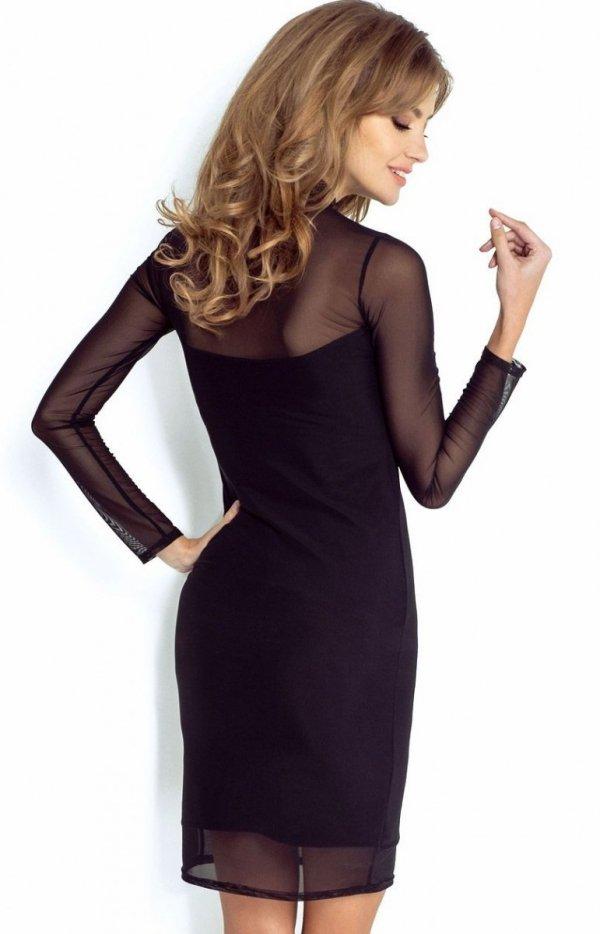 Wieczorowa sukienka Natasha z tiulem tył