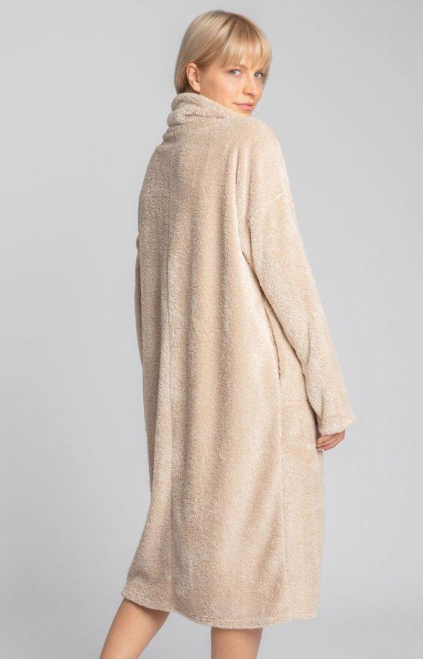 Lalupa ciepła pluszowa sukienka domowa tył