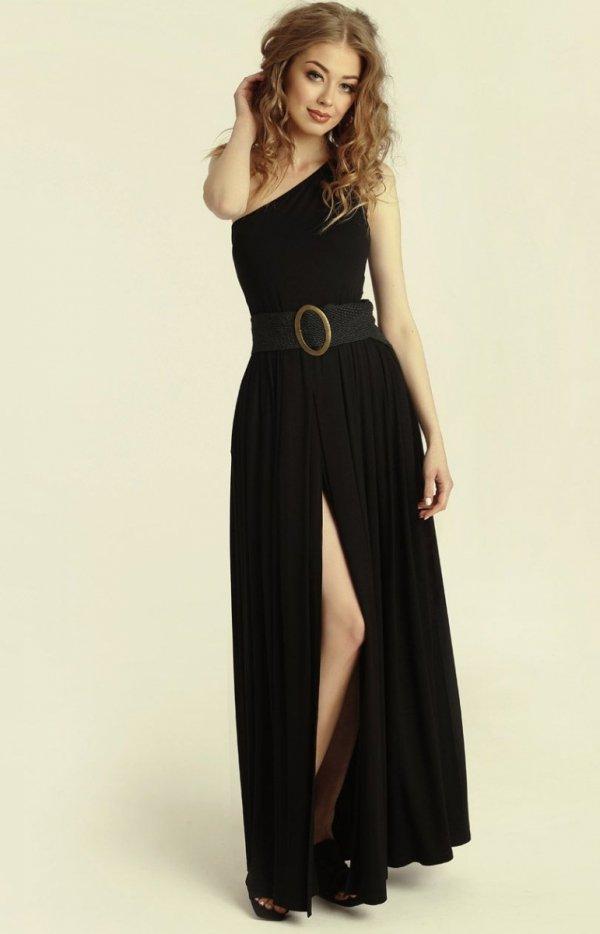 Długa sukienka na jedno ramię Erin