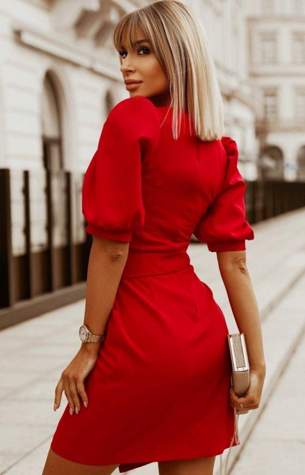 Bicotone sukienka wizytowa z broszką  2222-02 tył